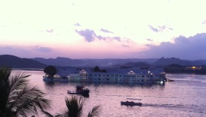 Lake Palace at sunset